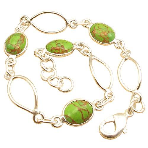 Original GREEN COPPER TURQUOISE Bracelet 7.9