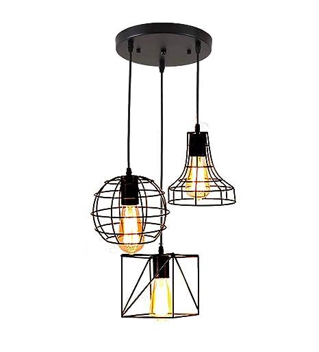 Lámpara colgante retro en diseño vintage, lámpara de techo de ...