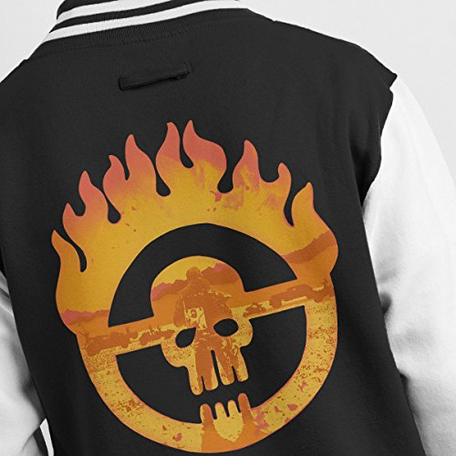 Is Road Max white My Mad Fury Black Men's Varsity Name Jacket RFqEXxwE5