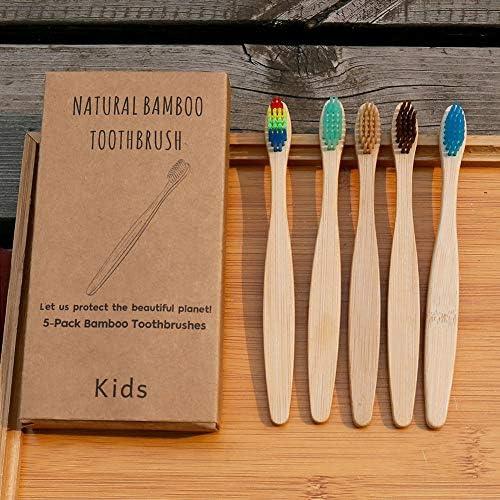 20er Set Bambuskohle Zahnbürste,Bambus Zahnbürste für Kinder - Pflegend weiche Borsten - Kleiner Bürstenkopf - Ökologische Kinderzahnbürste -für Kleinkinder, 3-8 Jahre alt
