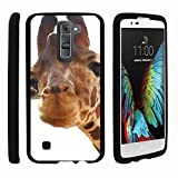 LG K7 |Tribute 5 | Treasure L52VL Phone Case, Full Body Perfect Fit Snap on Hard Cell Phone Cover Adorable Animal Design Series by Miniturtle® - Cute Giraffe CloseUp