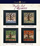Mighty Oak Beaded Counted Cross Stitch Kits 2017 Mill Hill Quartet (Set of 4: Fall, Spring, Summer, Winter)