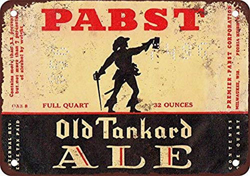 TEcell Pabst Old Tankard Ale Vintage Wall Decor 8X12, used for sale  Delivered anywhere in USA