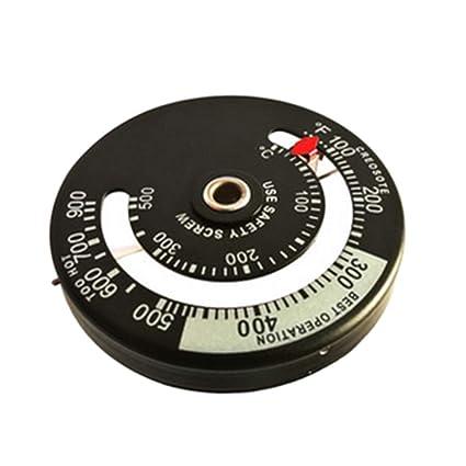 Hergon - Termómetro magnético para estufa de combustible, multimadera, termómetro digital para cocina,