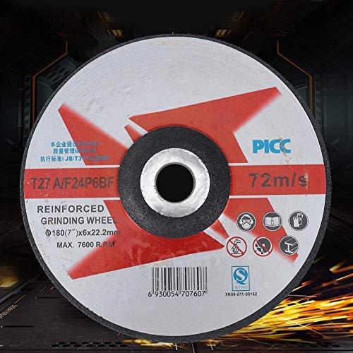 Fictor 10PCS樹脂円形レジン砥石サンディング研磨ディスクメタルグラインダー(180x6x22mm)