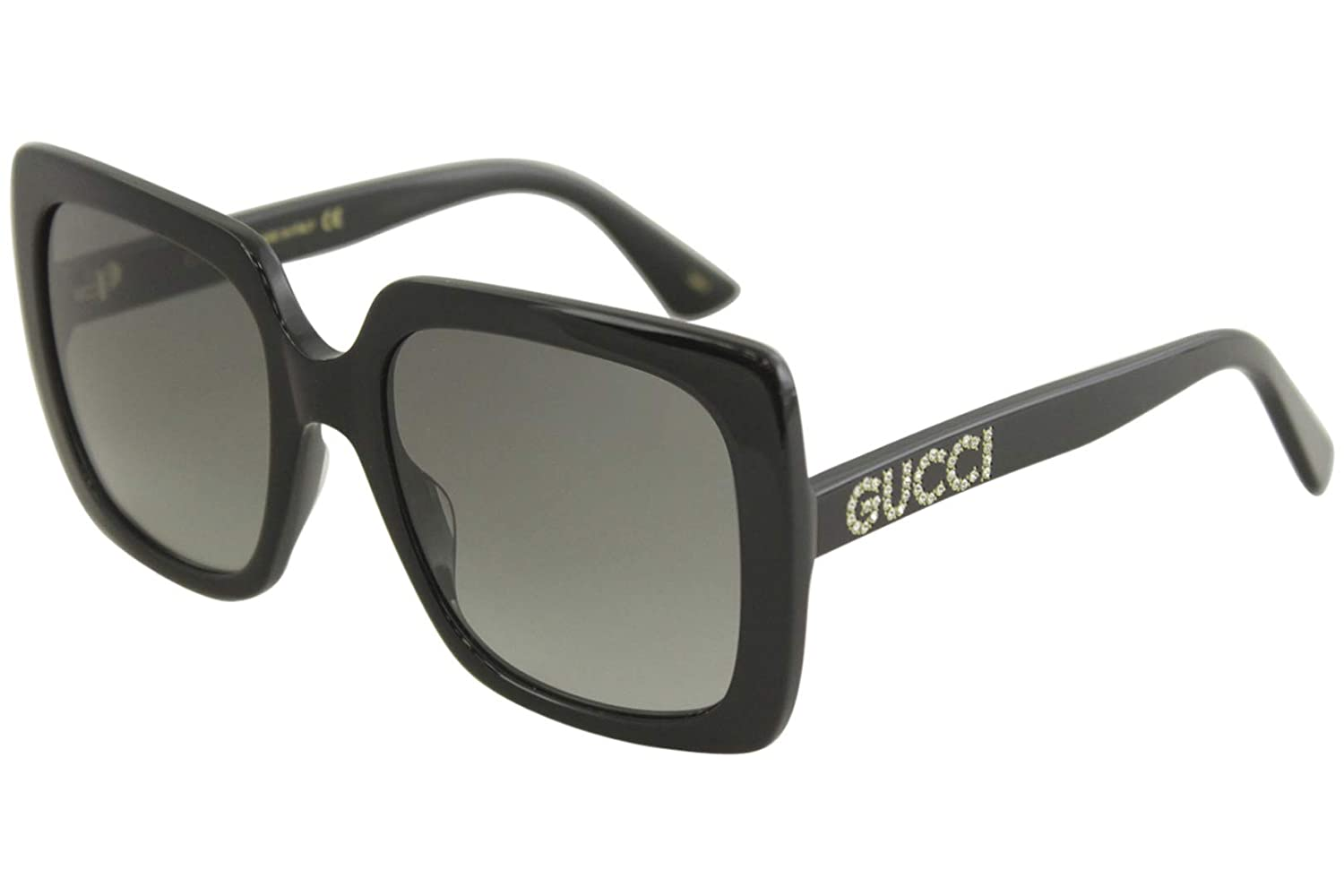917f95e3459 Amazon.com  Gucci GG0418S 001 Black GG0418S Square Sunglasses Lens Category  2 Size 54mm  Clothing