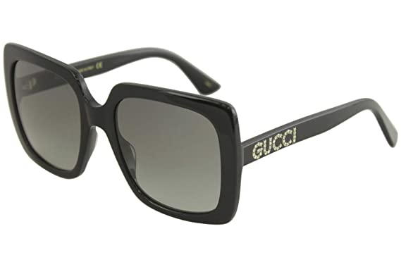 1dc1d4c181f Gucci GG0418S 001 Black GG0418S Square Sunglasses Lens Category 2 Size 54mm