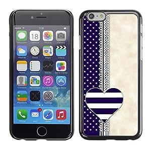 Cubierta de la caja de protección la piel dura para el Apple iPhone 6 (4.7) - notebook blue beige white