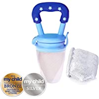 Cherub Baby Fresh Food Feeder with Replacement Nets, Blue