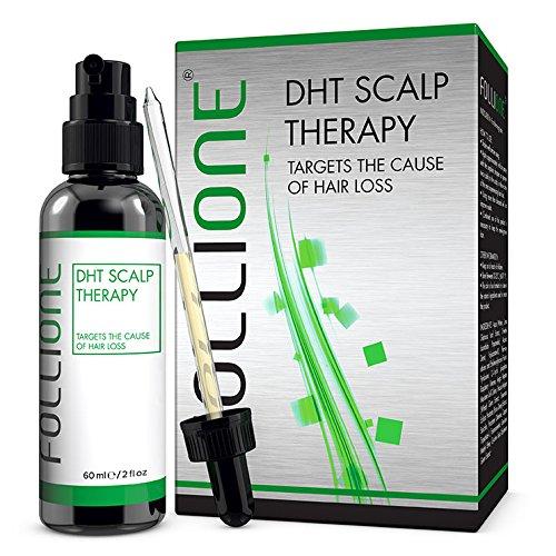 FolliOne - Tratamiento para la caída del cabello - Para hombres - Alopecia androgénica (por DHT). Regeneración capilar en pérdidas por DHT y calvicie. Tratamiento para el crecimiento capilar masculino. Detén el avance de la calvicie. Dosis para un mes One