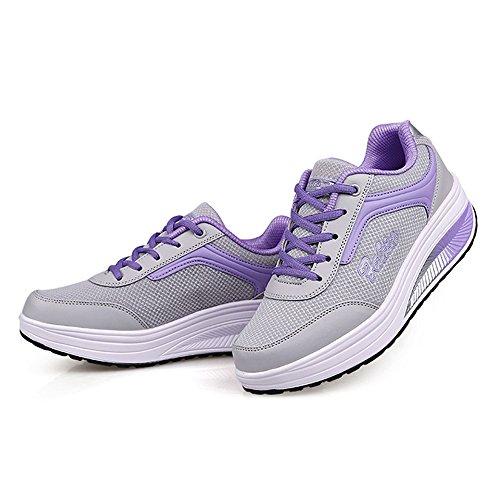 Fitness Platform Fashion Lightweight Women Enllerviid Shoes Mesh Rx8391 CM up Purple Lace Sneakers RX8388 xv4X0Xqz