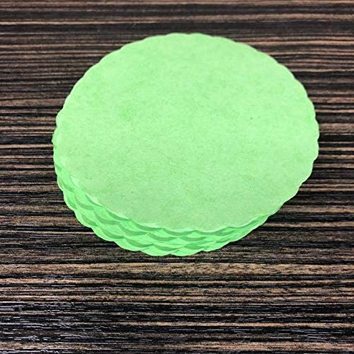 Green Scalloped / Burger Maker Wax Discs - 5