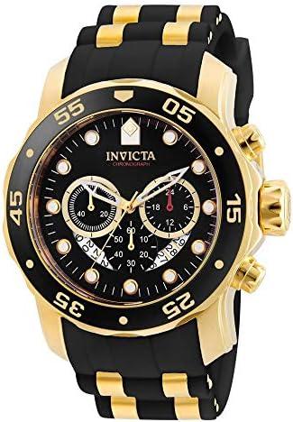 Invicta Men s 6981 Pro Diver Analog Swiss Chronograph Black Polyurethane Watch