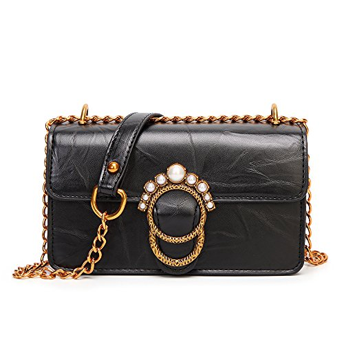 Black Serrure Lady élégante Femmes Satchels En Bag ASDYY Crossbody Boucle BagPU Cuir Pour w7qW1I