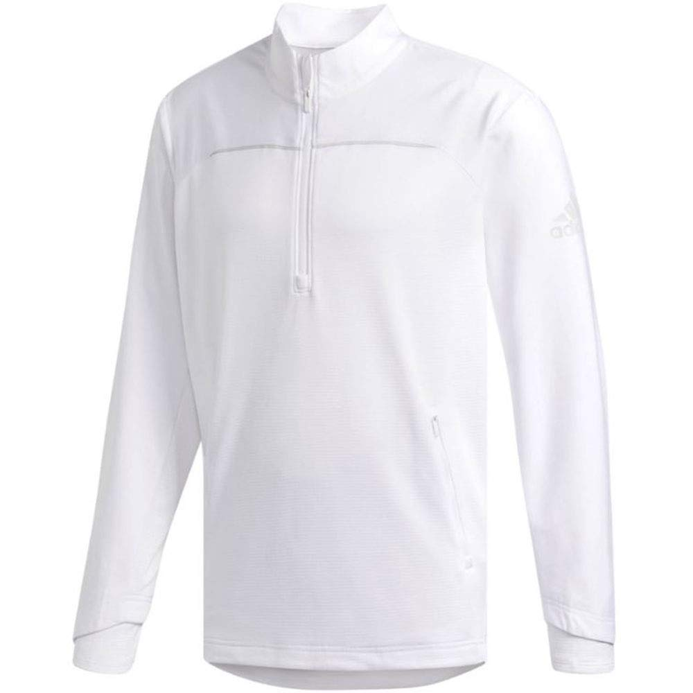 adidas Golf Go-to Adapt 1/4 Zip, White, Large by adidas