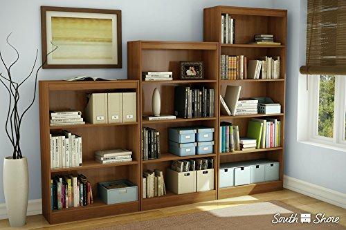 South Shore Axess Collection 5-Shelf Bookcase, Royal Cherry
