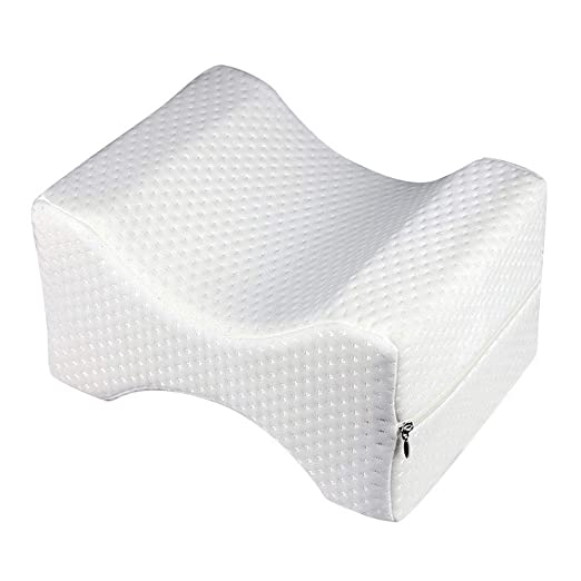 Almohada de espuma para la rodilla, contorno de rodilla, almohada de espuma con efecto memoria para alivio de dolor de espalda al embarazo, alivio de ...