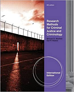 Research Methods For Criminal Justice And Criminology 9780495813736 Amazon Books