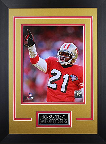 Deion Sanders Framed 8x10 San Francisco 49ers Photo (DS-P2D) -