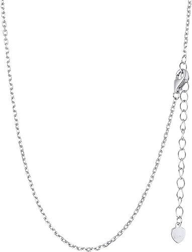 collier argent femme 55 cm