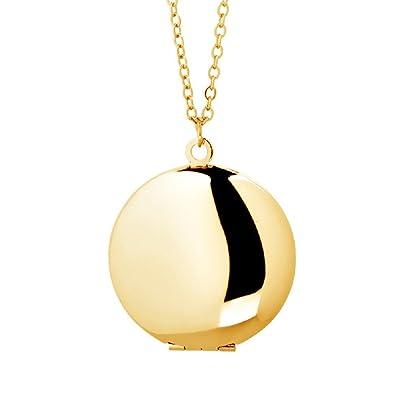 Amazon power wing round locket necklace pendant simple circle amazon power wing round locket necklace pendant simple circle that holds picture women sexy jewelry 18k gold tone jewelry aloadofball Gallery