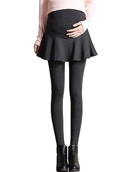 BESBOMIG Femmes Maternité Robe Jupe Leggings Soutien Ventre - Épais Plus  Velours Pantalon Chaud L  14cf4547835
