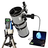 """Silver 6"""" GPS Computer Controlled Reflector Telescope with 5MP Digital USB Camera"""