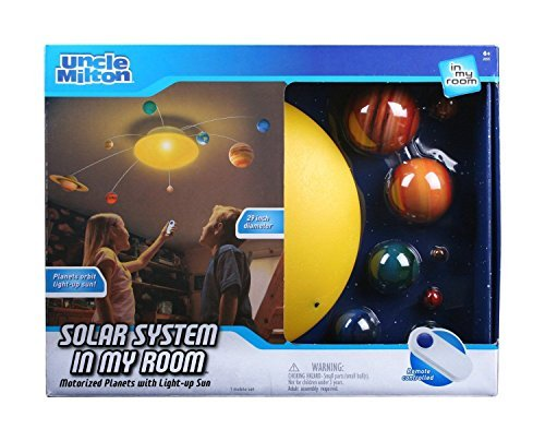 Uncle Milton Solar System In My Room IR Remote Control With Built-in Light - Shipping Economy Time International