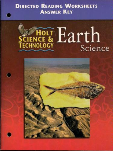 Holt Earth Science: Directed Reading Worksheets Answer Key: and ...