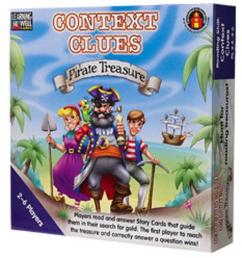(Context Clues Pirate Treasure Blue -- Case of 2 )