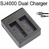 AFAITH Caricabatteria doppio (senza adattatori) per Qumox SJ4000, SJ5000, SJ6000 / SJCam