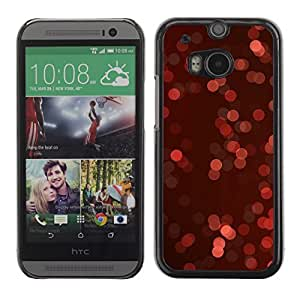 YOYO Slim PC / Aluminium Case Cover Armor Shell Portection //Christmas Holiday Boker Red Pattern 1227 //HTC One M8