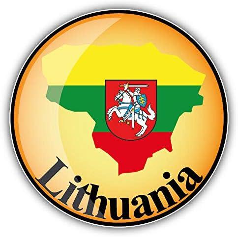 Sticker ** 5 Sizes ** Lithuania Flag Vinyl Decal