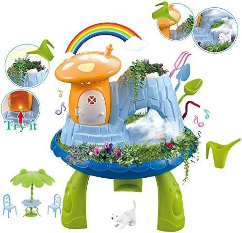 Amazon.es: deAO Jardín en Miniatura Mi Cuento de Hadas Casita en el Bosque Mágico con Características de Niebla Juego de Botánica Infantil Incluye Semillas, Tierra y Accesorios Casa Encantada de Muñecas: Juguetes
