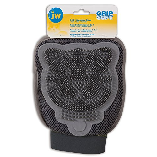 JW Pet Company 3-in-1 Cat Grooming Glove