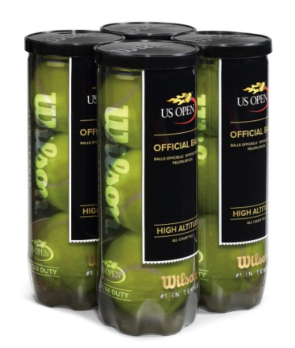 Wilson US Open High Altitude Tennis Ball (4-Pack), Yellow