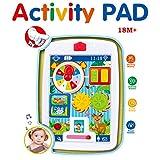 BFOELInfantsHappyActivityLearningTouchPadMultifunctionTableToysWithSparkleLights and SoundsMusical Toy,Animal Rotation,Education Toys(Red)