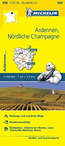 Michelin Ardennen - Nördliche Champagne: Straßen- und Tourismuskarte 1:150.000 (MICHELIN Localkarten)
