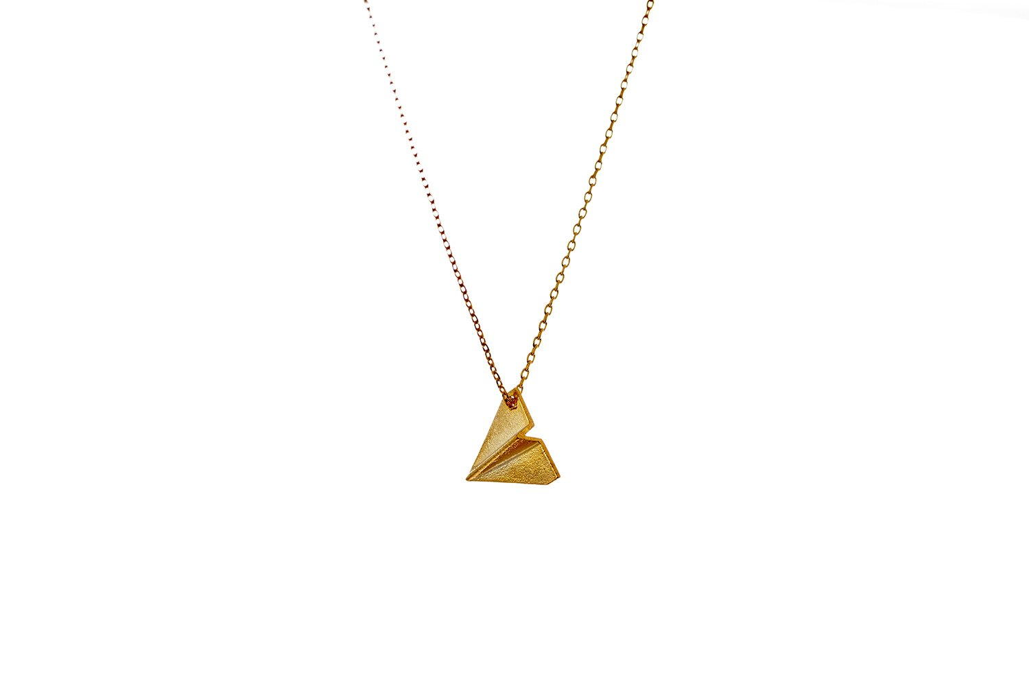 Fit Selection Flight Crew necklace Minimalist paper plane necklace Airplane pendant Pilot necklace Occupational jewelry (gold-plated-base)