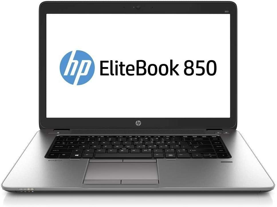 HP EliteBook 850 G2 15.6 Inch Laptop PC, Intel Core i5-5300U up to 2.9GHz, 8G DDR3L, 256G SSD, VGA, DP, Windows 10 Pro 64 Bit Multi-Language Support English/French/Spanish(Renewed)