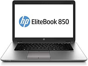 HP EliteBook 850 G2 15.6 Inch Laptop PC, Intel Core i5-5300U up to 2.9GHz, 8G DDR3L, 256G SSD, VGA, DP, Windows 10 Pro 64 Bit Multi-Language Support English/French/Spanish(Renewed)