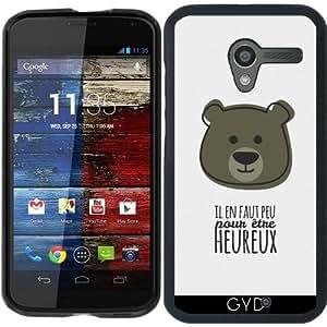 Funda para Motorola Moto X (Generation 1) - Cita - Para Ser Feliz by Asmo