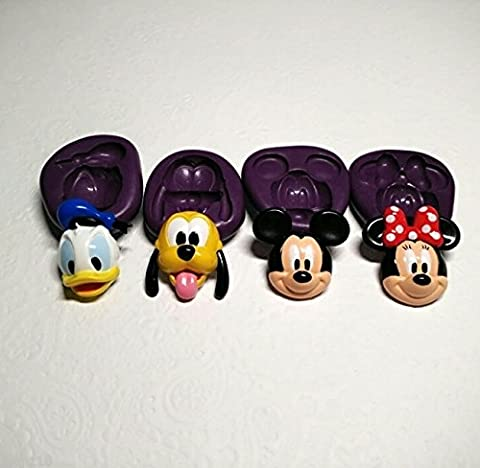 Silicone Molds 3D Disney Theme Set (31mm) Cupcake Topper Chocolate Cookie Resin
