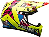 Bell MX-9 MIPS Tagger Double Trouble Off-Road lMotorcycle Helmet (Gloss Hi-Viz, XX-Large)