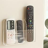 VANCORE Remote Control Holder - Acrylic Wall Mount Media Organizer Box, 3 Compartments