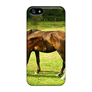 Iphone Covers Cases - Horses On Green Meadow Protective Cases Compatibel With Iphone 5/5s
