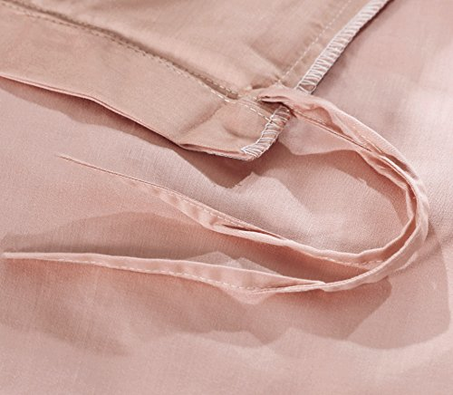 Rose gold duvet cover luxury bedding set high thread count for High thread count sheets
