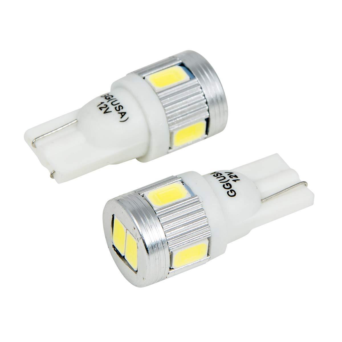 GG Grand General 70604 6 LED 194//168 White 6LED with Heatsink Tower Style, 12V Light Bulb