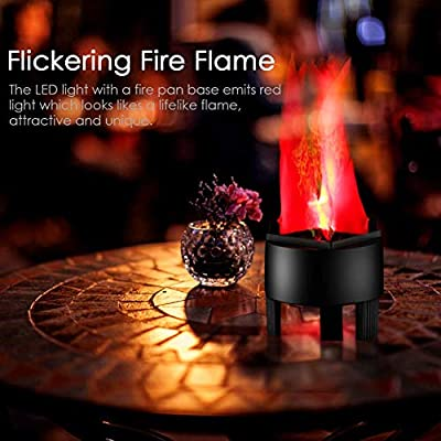 LED Fake Fire Flame Light 3D Flickering Fire Flame Electronic Flame Night Light Prop Simulated Flame Lamp Prop for Halloween Christmas Indoor Party Decoration, US Plug (Standard Flame): Home Improvement