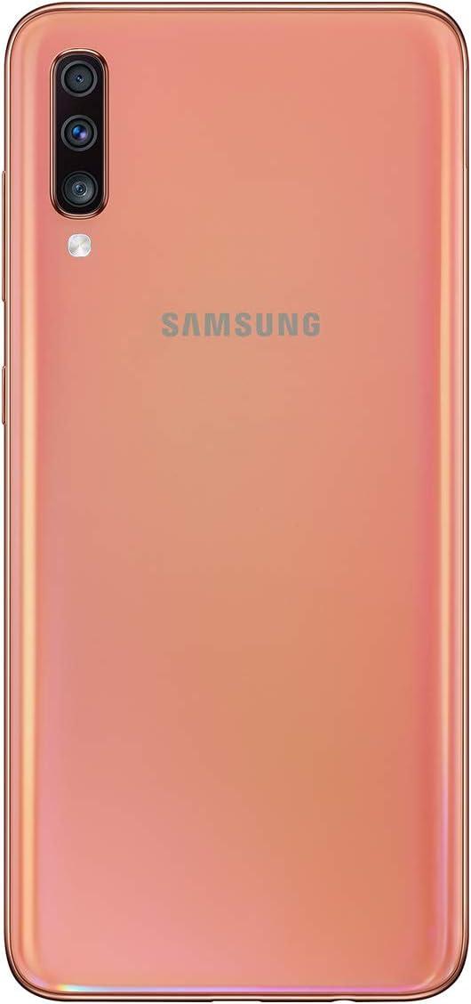 Samsung Galaxy A70 - Smartphone 4G (6,7'' - 128GO - 6 GO RAM) -  ORANGE - Version Spain